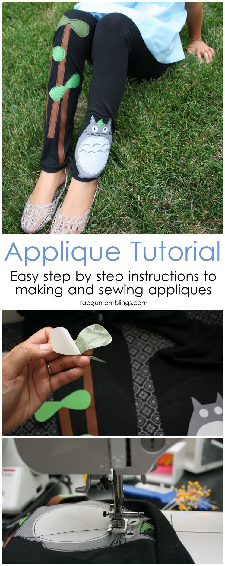 My favorite technique for how to make fabric appliques at home and how to sew them on.