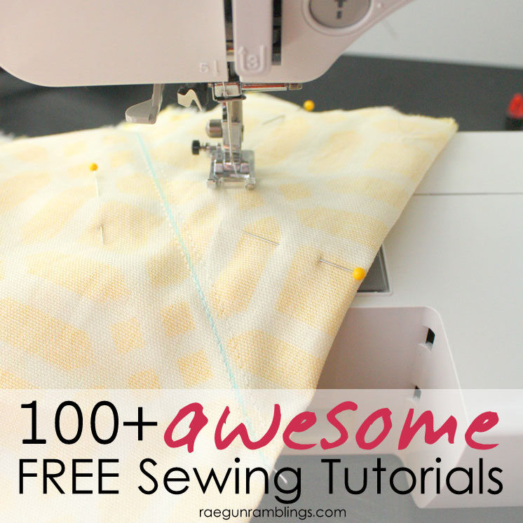 over 100 fast and easy sewing tutorials. perfect for learning to sew