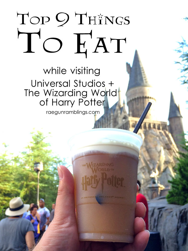 Great list of must eat food at the Wizarding World of Harry Potter and Universal Studios. Perfect for the next family vacation. via @raegun