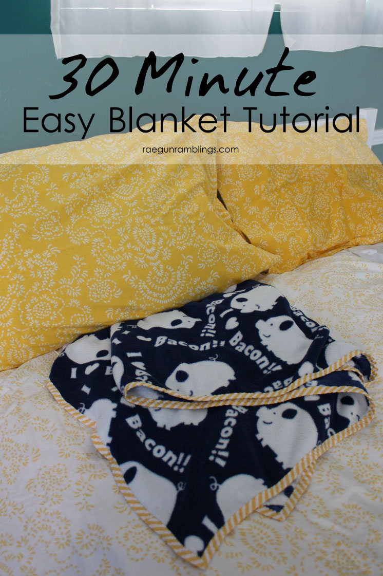 My go to blanket tutorial. Perfect DIY gift and easy sewing project.