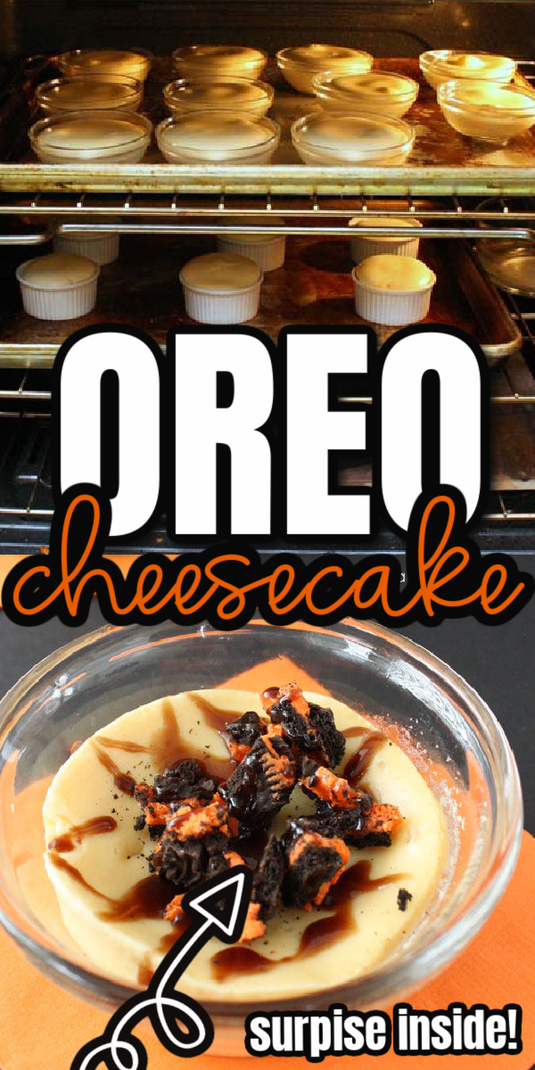 Quick and easy directions to making delicious Oreo Halloween Cheesecakes with a surprise. via @raegun