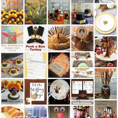 25+ Last Minute Thanksgiving Crafts and Foods and Block Party