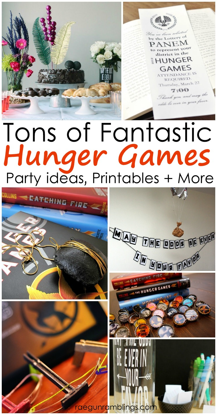 Lots of great Hunger Games party ideas, crafts, recipes and more