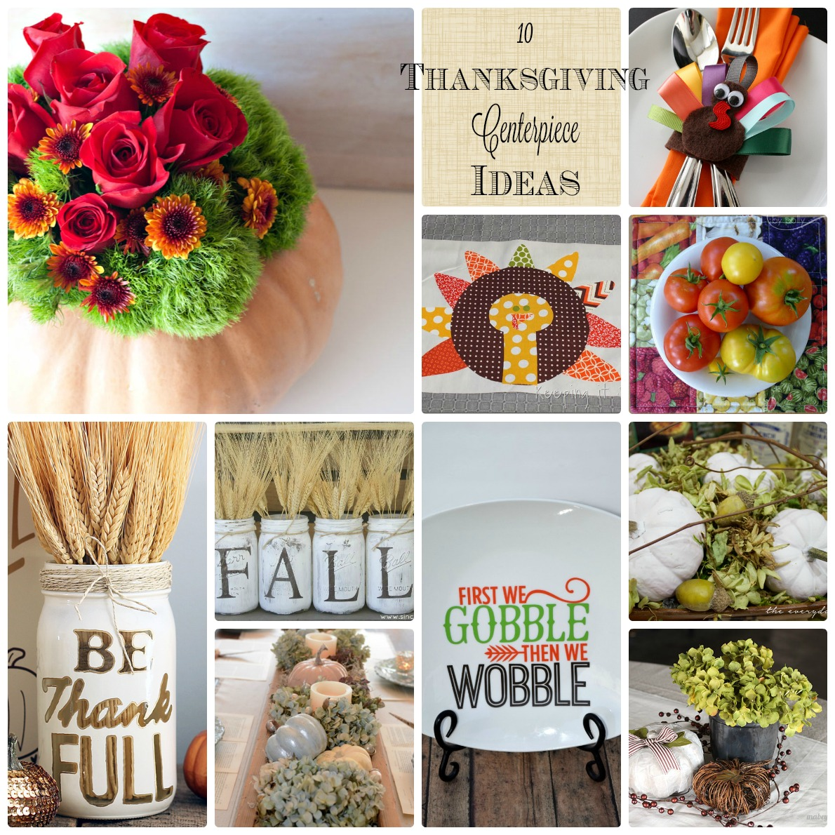 Diy thanksgiving centerpiece ideas and block party rae