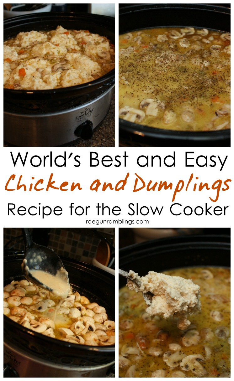 Super delicious crock pot chicken and dumpling recipe