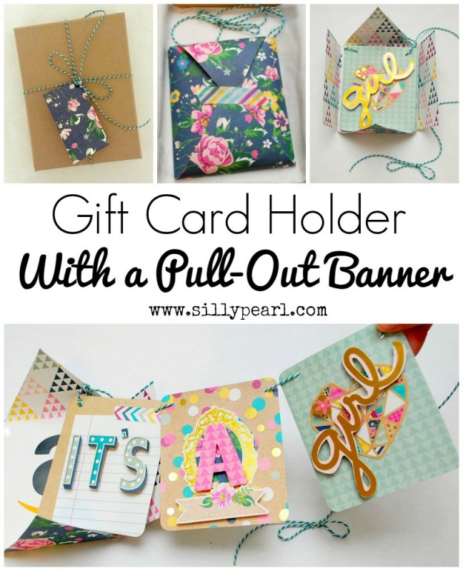Pull out banner gift card holder DIY tutorial