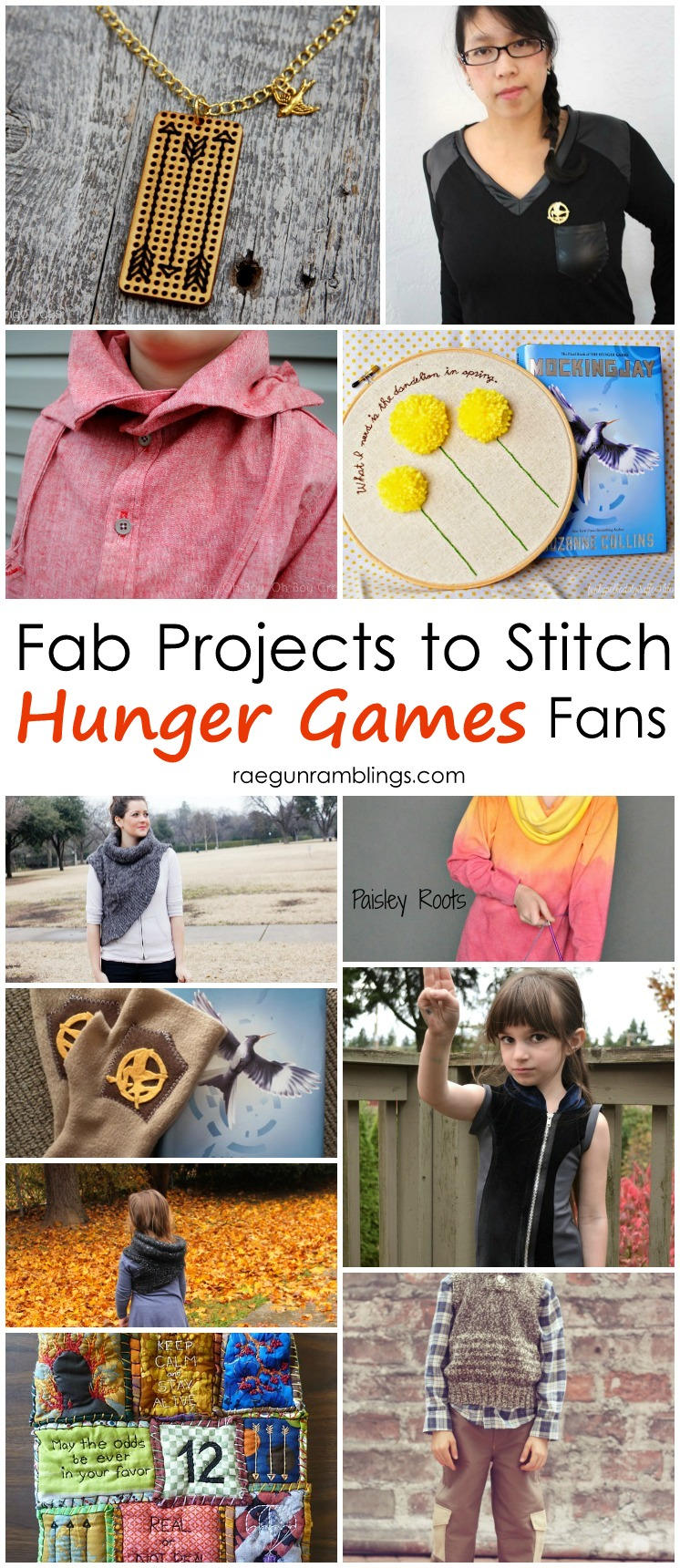 DIY sewing projects perfect for Hunger Games fans (would make great gifts)