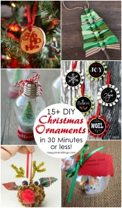 Lots of unique and easy Christmas ornament tutorials. Great DIY holiday decor ideas and crafts