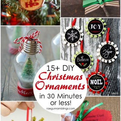 15+ DIY Christmas Ornament Tutorials