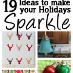 Sparkly Holiday ideas. Great glittery Christmas crafts