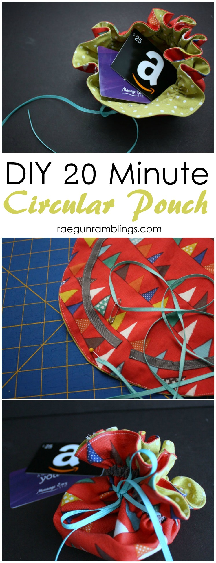 Easy DIY circular pouch tutorial
