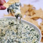 chip dipping spinach artichoke dip
