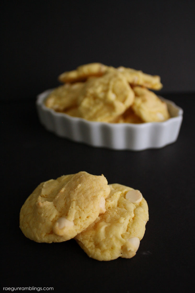 Super easy and delicious lemon white chocolate cookie recipe with just 4 ingredients. Tasty dessert
