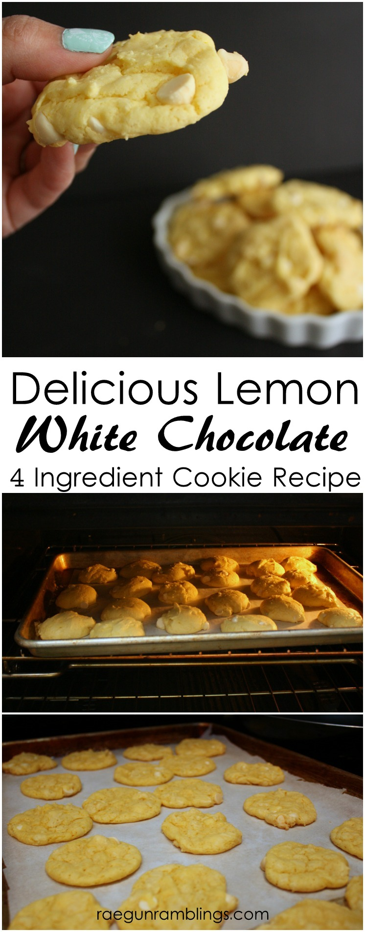 New favorite cookies to take to people. SO easy and reliable. Yummy easy lemon white chocolate dessert recipe