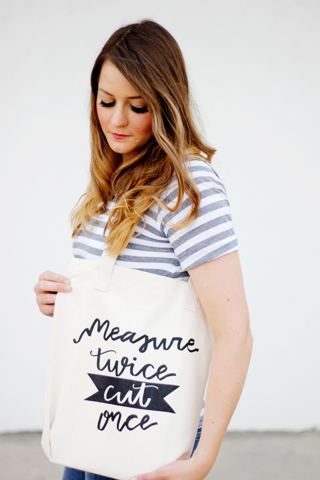Measure twice cut one tote from see kate sew