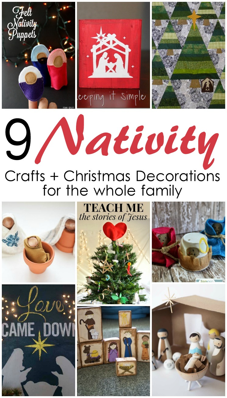 9 nativity crafts and decorations for christmas and block party