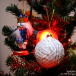 How to make a glittery ornament from book pages. Great DIY upcycled Christmas ornament tutorial