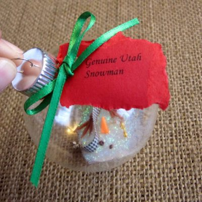 How to Make a Melted Snowman Ornament