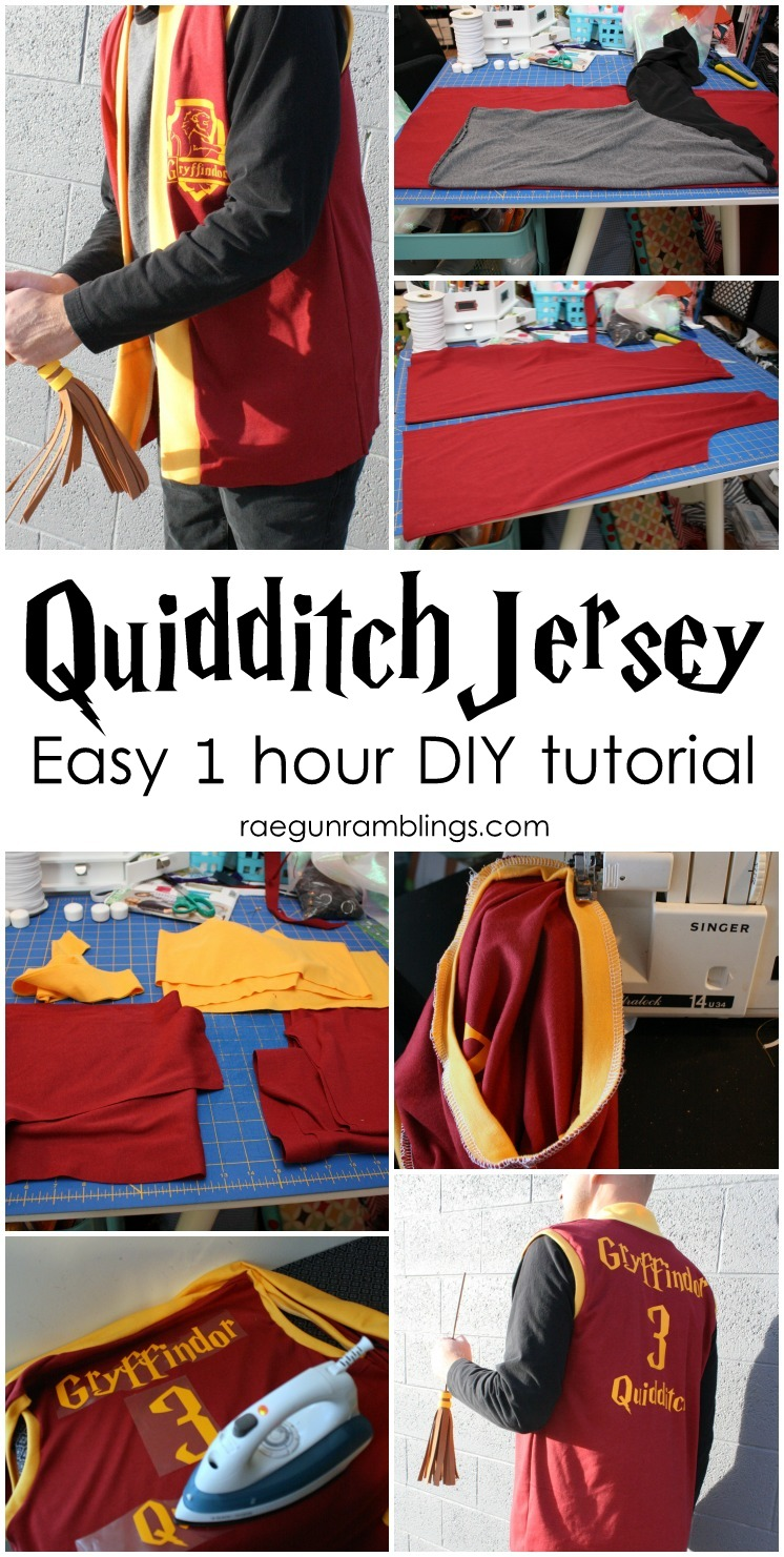 Make a Harry Potter costume in 1 hour. Easy DIY quidditch robes jersey tutorial