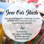 THis would be fun. Free sewing challenge that will get you sewing at least one new thing a month. sew our stash