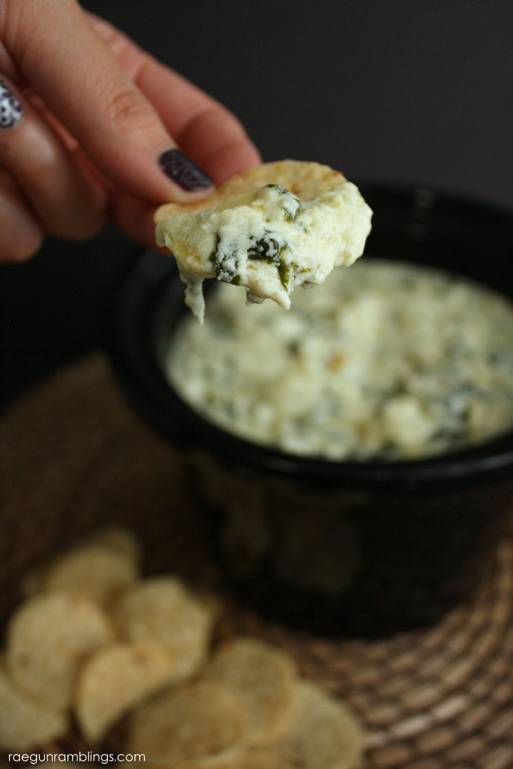 The best spinach and artichoke dip recipe I have ever had. Only takes 15 minutes and the recipe is crock pot friendly (but does not require a slow cooker)