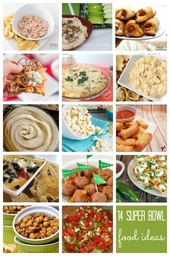 Super-Bowl-Food-Ideas lots of delicious appetizers and dip recipes