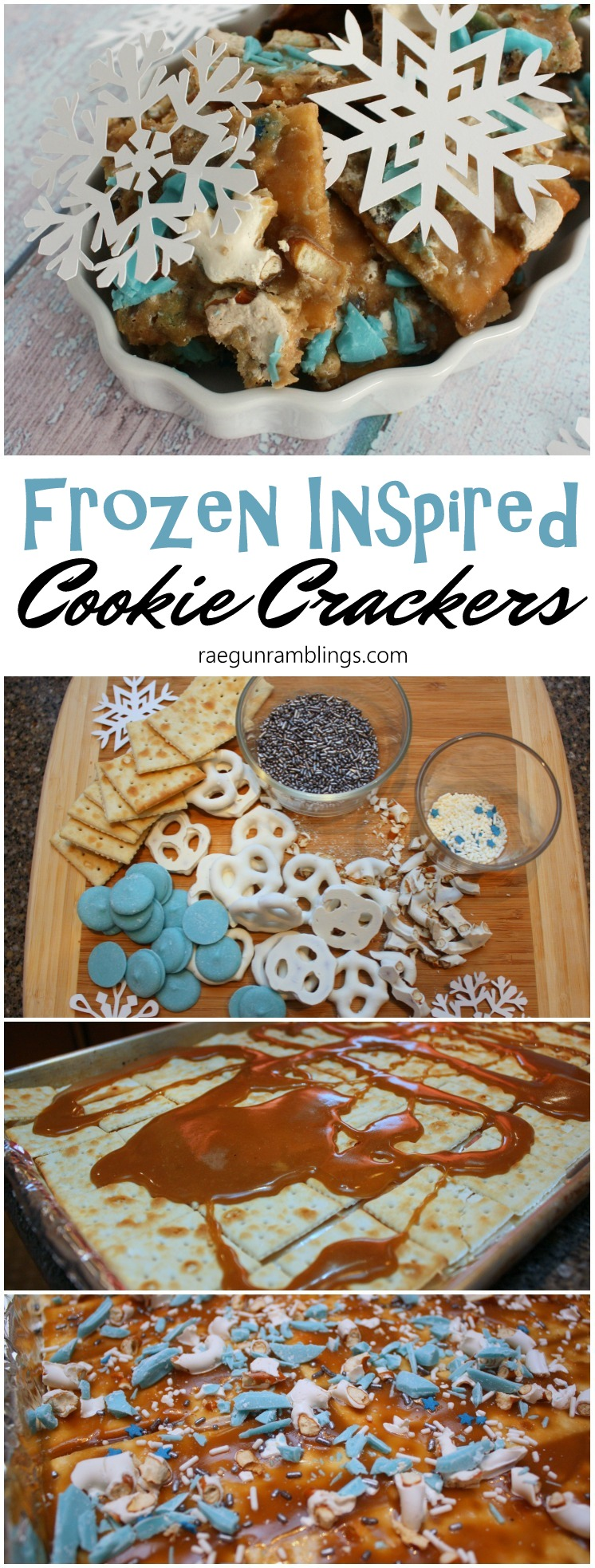 we love these super easy cookie crackers. great recipe to make with the kids. These Frozen inspired ones are extra cute