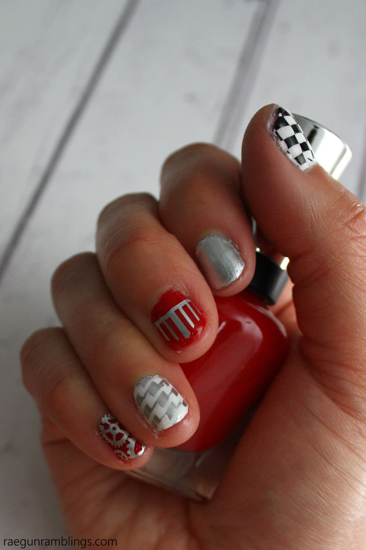 Fun Grease lightning nails tutorial. Great DIY tips and tricks for the ultimate mani