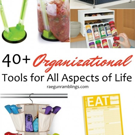Over 40 awesome organizational tools to help get every aspect of life and home finally organized