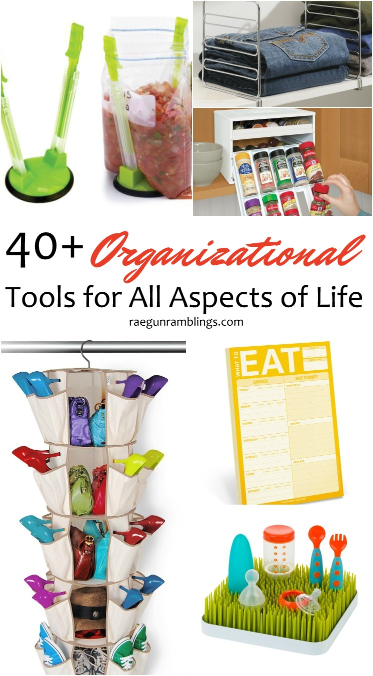 I need these all! SO many great organizational tools I never new existed. Time to organize the whole house.