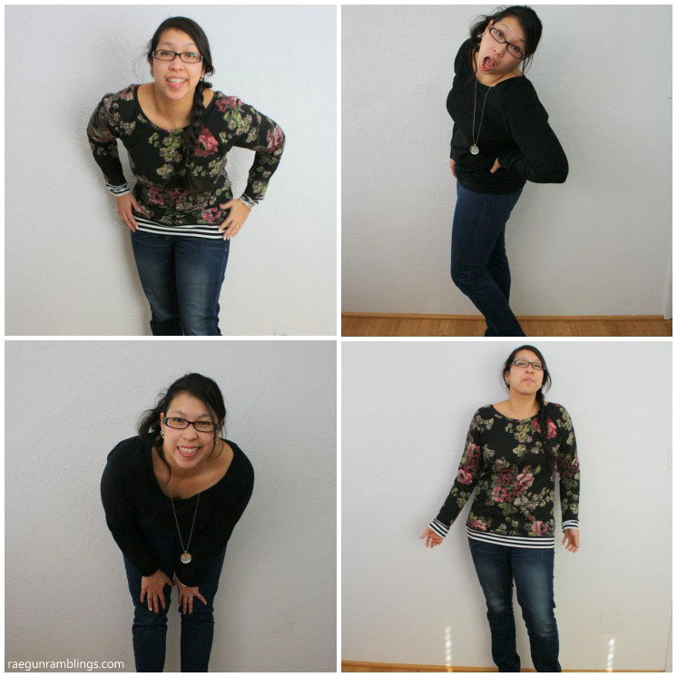 DIY slouchy sweatshirt quick and easy diy sewing hack