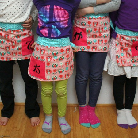 Apron easy enough for a 5 year old to make. Free sewing pattern and tutorial