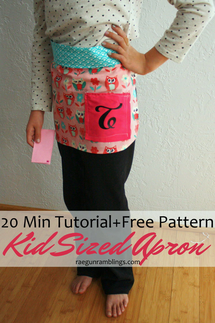 The kid and I made one of these child sized aprons this weekend. Great sewing tutorial for beginners yay for free patterns.
