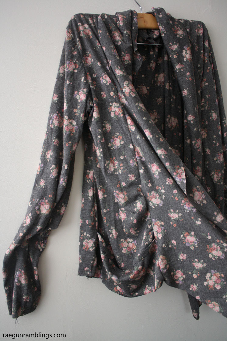 DIY floral cardigan a knock off Forever 21 sewing project