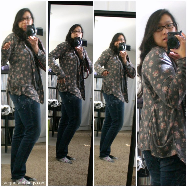 DIY floral cardigan collage