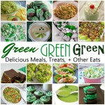 Green food and recipes for breakfast lunch dinner and dessert. Great for St. Patrick's Day and many are naturally green (no food coloring)