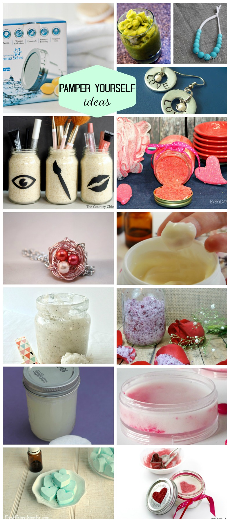 Awesome DIY ideas to pamper yourself (also would make great gifts for Mother's days or teachers)