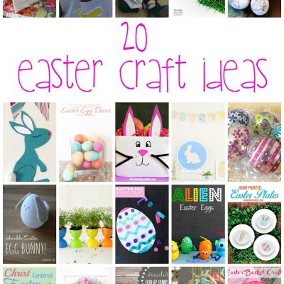 20+ Easter Craft Ideas and Block Party