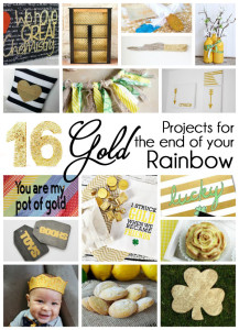 great gold diy projects for st. patrick's day and all year