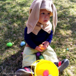 1 hour DIY baby bunny costume. The tail might be my favorite part. SO cute.