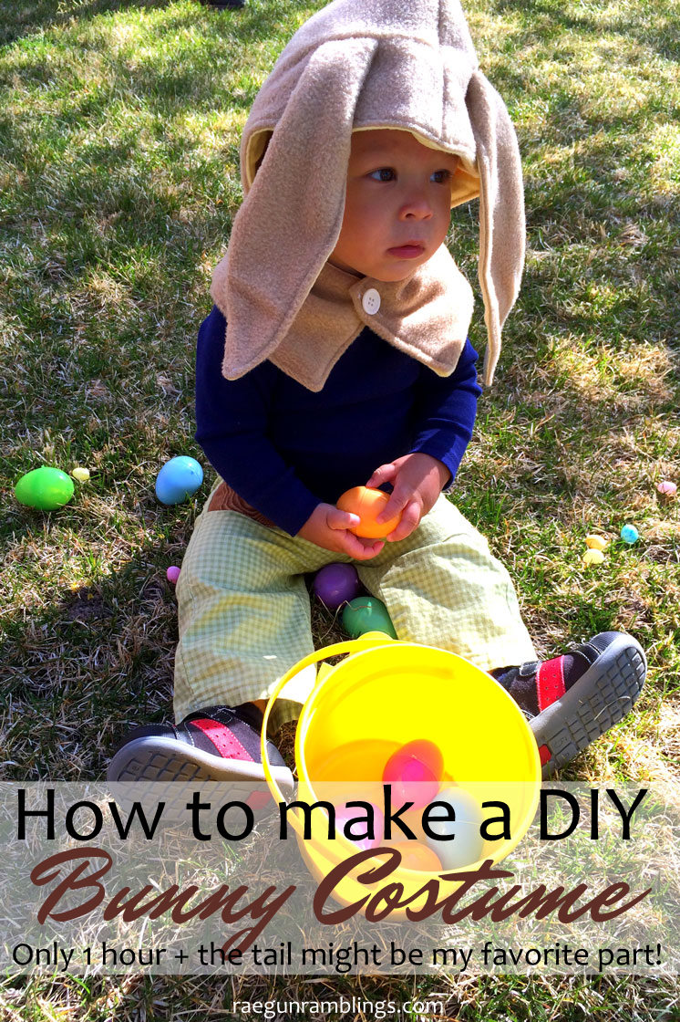 Love this easy bunny costume tutorial. Great fast sewing project for Easter or Halloween.