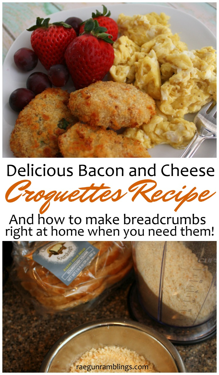 Super good potato cheese and bacon croquettes recipe. Freezes great and
