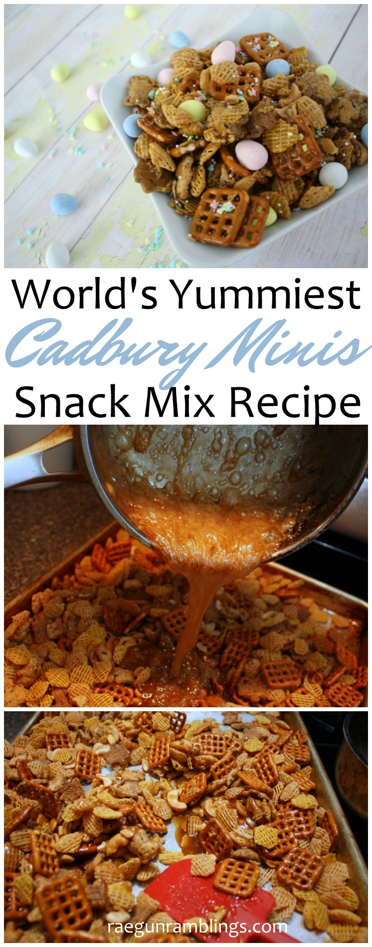 Can't stop making this snack mix recipe. So good with the Cadbury mini eggs but would be just as yummy as an every day chex or crispix mix