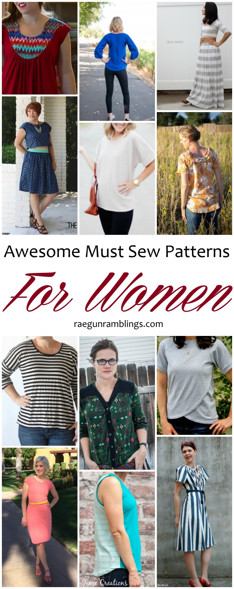 Must sew them all. Great DIY women's clothing sewing patterns.
