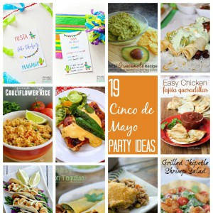 Lots of awesome Mexican food recipes and party ideas for cinco de mayo