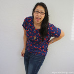 quick and easy diy dolman shirt. fun sewing project