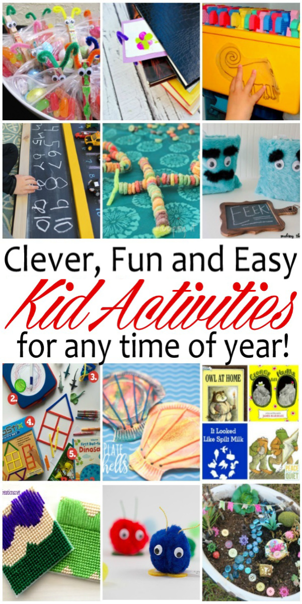 Whether it's raining out, you've just had too much sun, or your stuck inside for other reasons here are tons of fun andeasy kid activities will keep the the whole family happy. via @raegun