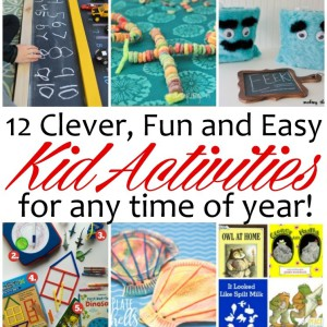Awesome boredom busters. 12 unique kid activities and crafts perfect for Summer and rainy days.