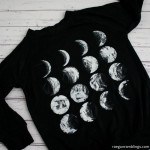 Awesome phases of the moon shirt. 30 minute DIY tutorial