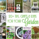 20+ Awesome Ideas, Crafts and Tips for Your Garden FB